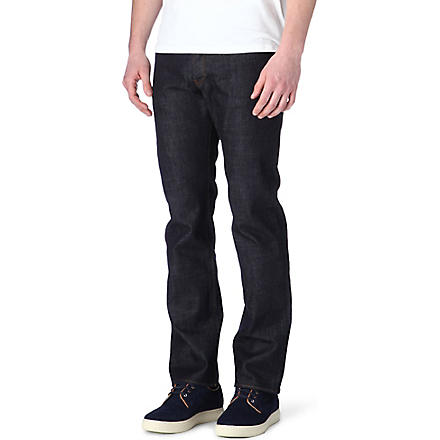 PAUL SMITH JEANS Standard regular-fit straight jeans (Rinse+wash