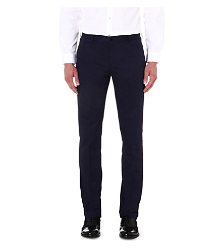 PS BY PAUL SMITH Slim-fit stretch-cotton chinos (Navy