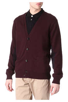 PAUL SMITH JEANS Corduroy-patch cardigan