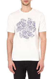 RED EAR White fish print t-shirt