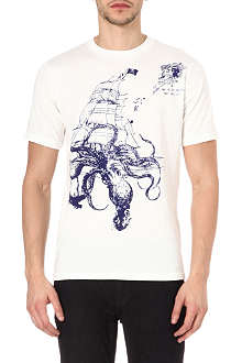 RED EAR Pirate Octopus t-shirt