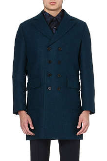 PS BY PAUL SMITH Melange double-breasted long coat