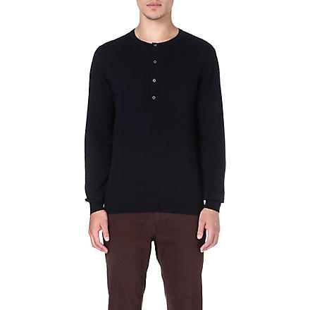PS BY PAUL SMITH Henley wool jumper (Navy