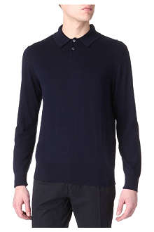 PS BY PAUL SMITH Contrast-seam knitted polo shirt