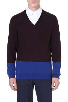 PS BY PAUL SMITH V-neck block knit jumper