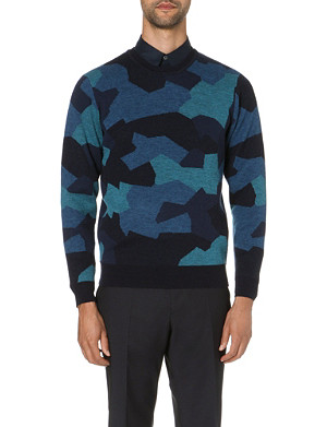 PS BY PAUL SMITH Camouflage wool jumper