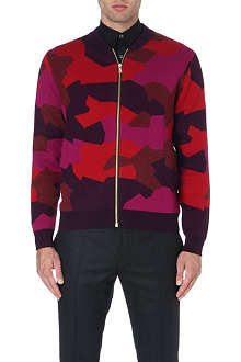 PS BY PAUL SMITH Camo knitted cardigan