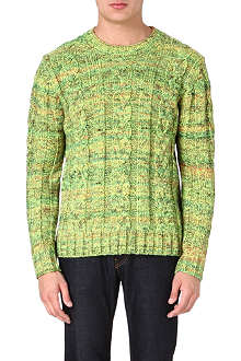 PS BY PAUL SMITH Neon cable-knit jumper
