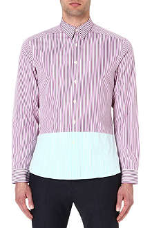 PAUL SMITH Two-toned striped shirt