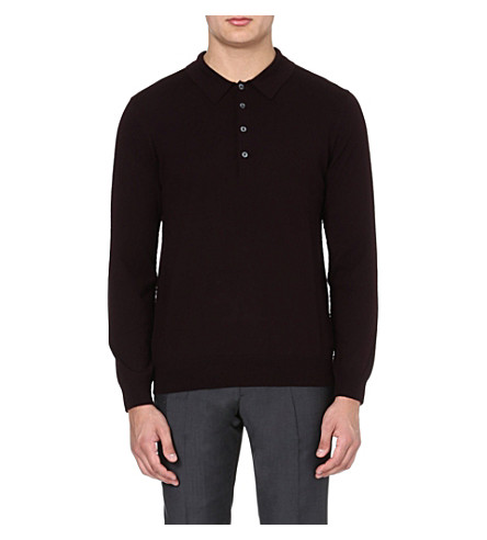 PS BY PAUL SMITH Wool polo jumper (Damson