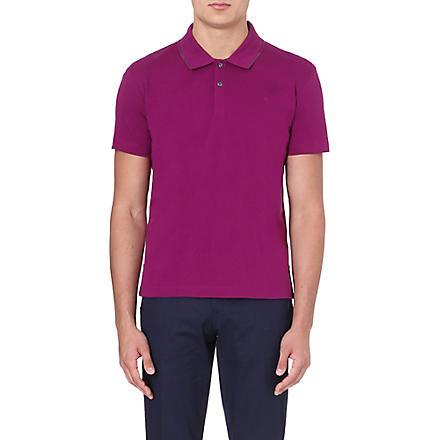 PS BY PAUL SMITH Contrast-trim logo polo shirt (Fuscia