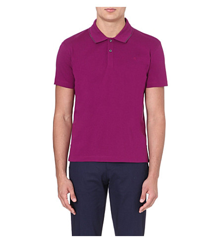 PS BY PAUL SMITH Contrast-trim logo polo shirt (Fuscia