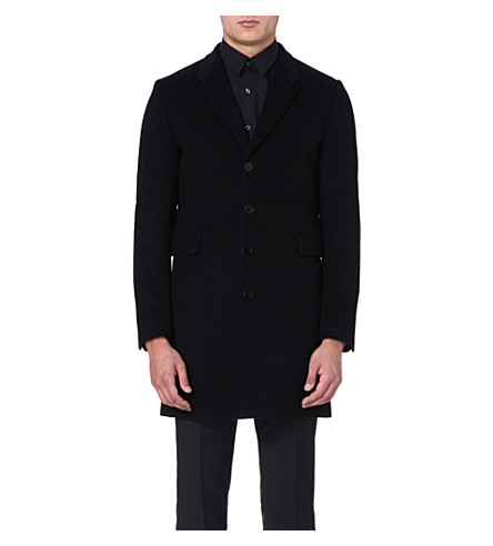 PS BY PAUL SMITH Single-breasted wool-blend coat (Black