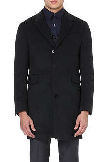 PS BY PAUL SMITH Single breasted wool and cashmere mix overcoat