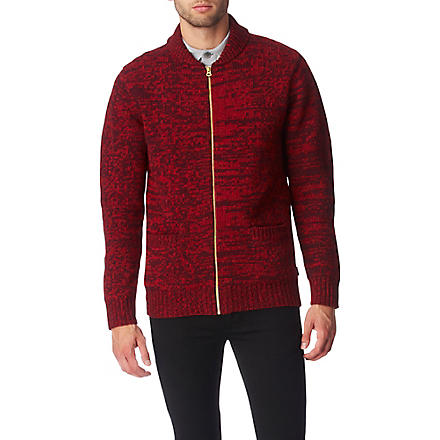 PAUL SMITH JEANS Two-toned cardigan (Red