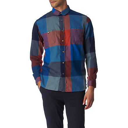 PAUL SMITH JEANS Mega check regular fit single cuff shirt (Multi