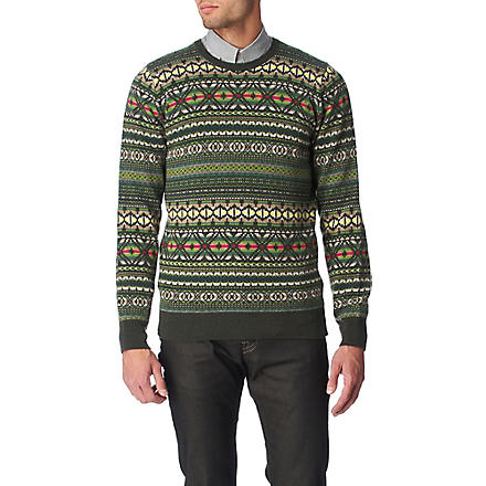 PS BY PAUL SMITH Fair Isle jumper (Green
