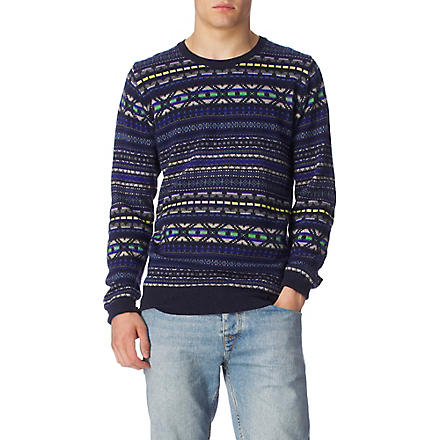 PS BY PAUL SMITH Fair Isle jumper (Navy