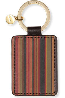 PAUL SMITH ACCESSORIES Multistripe leather key ring