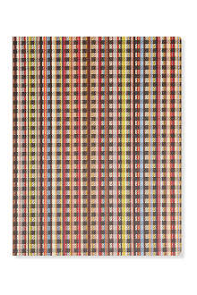 PAUL SMITH ACCESSORIES Signature striped and checked large notebook