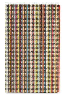 PAUL SMITH ACCESSORIES Signature striped and checked pocket notebook