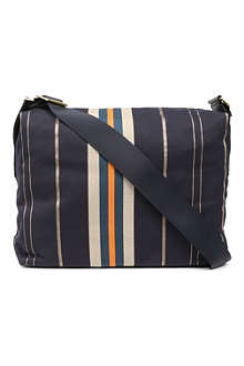 PAUL SMITH ACCESSORIES Stripe canvas messenger bag