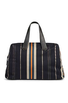 PAUL SMITH ACCESSORIES Striped canvas holdall