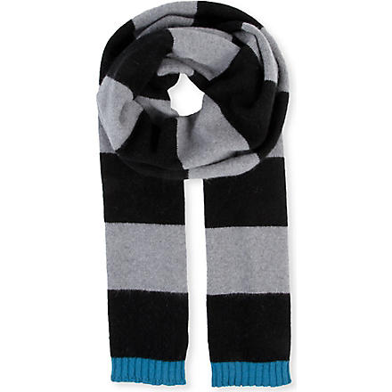 PAUL SMITH ACCESSORIES Simple Simon striped scarf (Black