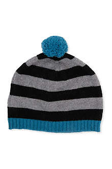 PAUL SMITH ACCESSORIES Oversized bobble striped beanie hat