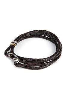 PAUL SMITH ACCESSORIES Leather wrap bracelet
