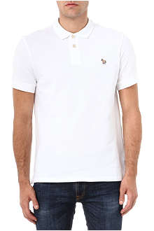 PAUL SMITH JEANS Cotton-piqué zebra polo shirt