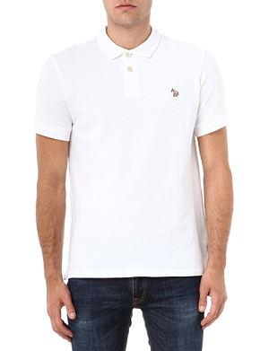 PAUL SMITH JEANS Cotton-piqué zebra polo shirt