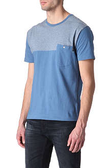 PAUL SMITH JEANS Striped-yoke t-shirt