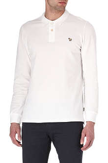 PAUL SMITH JEANS Zebra long-sleeved polo shirt