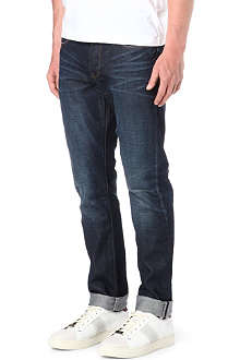 PAUL SMITH JEANS Slim-fit broken-twill tapered jeans