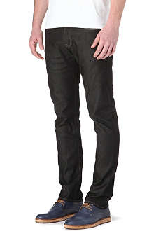 PAUL SMITH JEANS Mercerised slim-fit tapered jeans