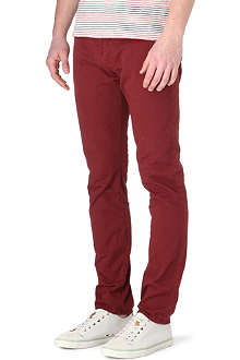 PAUL SMITH JEANS Overdyed slim-fit tapered jeans