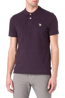PAUL SMITH JEANS Zebra cotton-piqué polo shirt