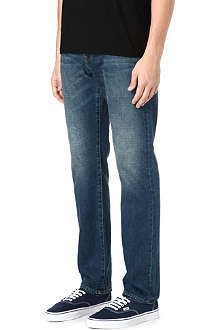 PAUL SMITH JEANS Classic-fit tapered mid-wash jeans