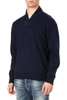 PAUL SMITH JEANS Shawl neck knitted jumper