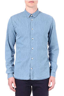 PAUL SMITH JEANS Chambray slim-fit shirt