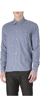 PAUL SMITH JEANS Gingham brushed-cotton shirt