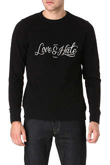 PAUL SMITH JEANS Love and Hate sweatshirt