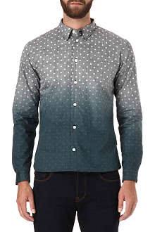 PAUL SMITH JEANS Dip-dye polka-dot slim-fit shirt