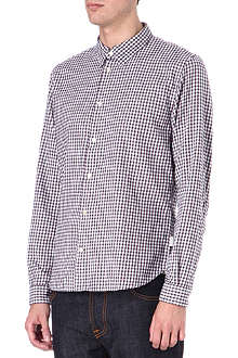 PAUL SMITH JEANS Check slim-fit single-cuff shirt