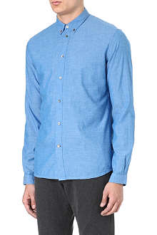PAUL SMITH JEANS Tailored brushed-cotton shirt