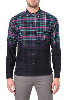 PAUL SMITH JEANS Dip-dye checked shirt