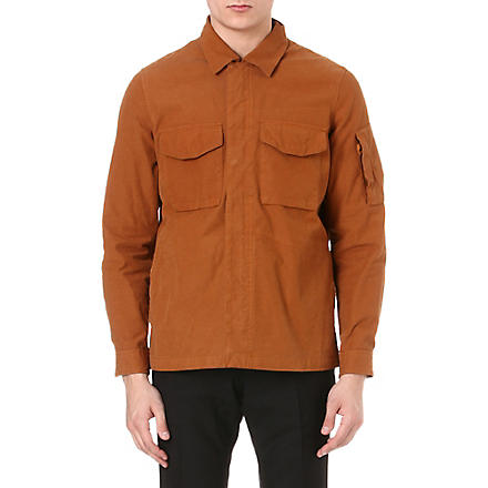 PAUL SMITH JEANS Washed canvas overshirt (Orange