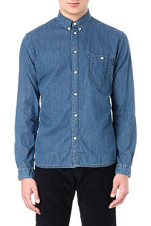 PAUL SMITH JEANS Button-down collar denim shirt