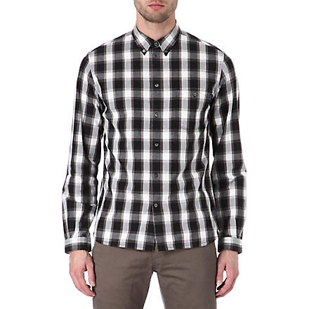 PAUL SMITH JEANS Checked polka-dot shirt (Brown